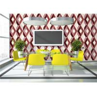 China Geometric Print 3D PVC Wallpaper Waterproof For TV Wall Background , Eco Friendly on sale