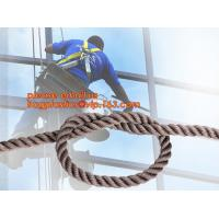 Quality wall-wash nylon twisted safety rope, wall-wash nylon safety rope for sale