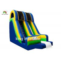 Quality Blue Inflatable Dry Slip And Slide PVC Tarpaulin Pool Side Entertainment for sale
