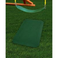 Non-toxic rubber mat with polyester top