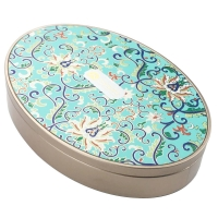 Quality Oval Shape 0.24mm Tinplate Food Tin Box For Chocolate Packing for sale