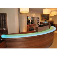Quality Pearl Glossy Decorative Jade Stone Countertops / Bar Tops For Hotel for sale