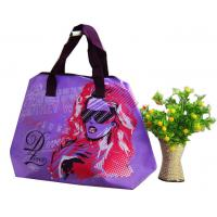 China Green / Blue / Pink / Orange 75g Zipper Shopping Bag, Non Woven Carry Bags For Ladies on sale