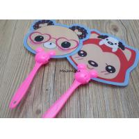 Quality Cartoon Pattern Plastic Hand Held Fans Cute Mini For Men And Women for sale