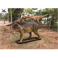 Buy Life Size Animatronic Dinosaur Garden Ornaments Mother And Baby Garden Display at wholesale prices