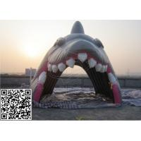 Quality Gray Waterproof Inflatable Archway Simulation Shark For Sport Events for sale