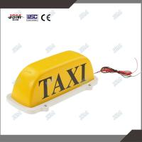 led lighted taxi cab roof top advertising sings and lights