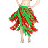 Quality Chiffon contrast frill belly dance skirts two color  For Stage Performance Show for sale