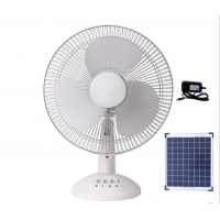 Quality Portable 12in 12000mah Solar Rechargeable Table Fan 15W for sale