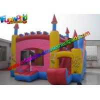 Trink Bell Vinyl Inflatable Bouncy Slide , Inflatable Combo Jumping Castle