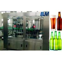 China Wine / Alcohol / Liquor Beer Bottle Rinsing Filling Capping Machine on sale