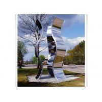 China Novel Design Outdoor Metal Sculpture , Metal Garden Statues Mirror Polished Surface on sale