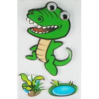 China personalised crocodile Paper Layered Stickers For bedroom wall decorative wholesale