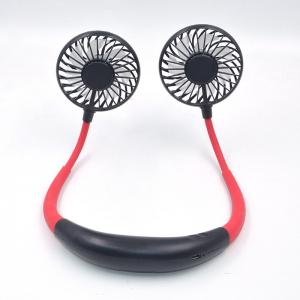 Quality Sports Foldable Led Light Rechargeable Neckband Fan 3hr Charging for sale
