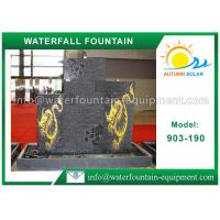 China Granite Stone Waterfall Water Fountain Outdoor For Garden Decoration on sale