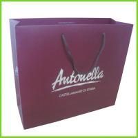 Quality Purple Shopping Custom Paper Bag Printing with String Handle for sale