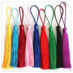 Quality Mini Silk Cords With Gold Tassels/ Graduation Tassels for sale