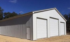 Quality Q235 Square Beam Prefab Metal Garage Kits Hot Dipped Galvanized for sale