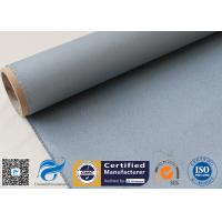 Buy cheap Grey Silicone Coated Fiberglass Fabric 0.85MM Satin Weave Abrasion Resistant from wholesalers