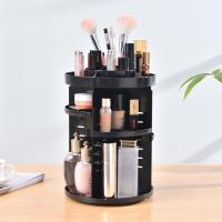 Quality Wholesale home storage displaying rack 360 rotating portable DIY plastic cosmetic storage box for sale