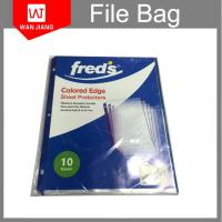 Buy A4 punched file pocket 11holes clear plastic folder pp sheet protectors at wholesale prices