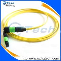 Quality Singlemode 12Core MPO/MTP Fiber Optic Patch Cord Yellow Jacket for sale