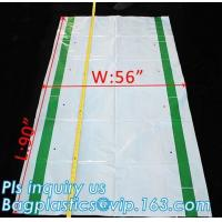 China Gusseted Side/Square Bottom Pallet Bags PE Pallet Covers, Giant Black Opaque Poly Bag Pallet Covers and Liners, vinyl co on sale