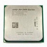 Quality 65W AMD A4 X2 Dual Core A4-3400 CPU Processor with 2.7GHz Frequency and FM1 Socket for sale