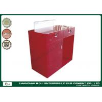 Quality Modern Eco - friendly Store Front Counter Furniture Red Color , retail front counter for sale