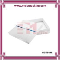 China White paper box with top and bottom lid cardboard box custom design ME-TB019 on sale