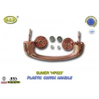 Quality Funeral decoration plastic coffin handles with reinforced wire HP023 coffin moveable for sale