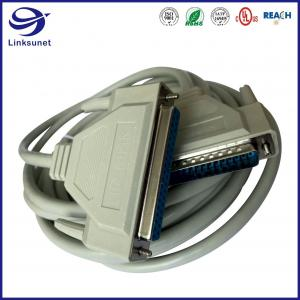 Quality DB9 TPE Silver Male and Female Connector for Electrical Wire Harness for sale