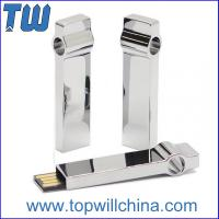 Solid Metal Keyring Usb Drive 64GB for Business Free Logo Printing Company Promotion Gift
