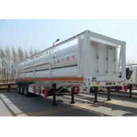 China High Pressure CNG Gas Cylinder , Seamless Cng Storage Tanks Semi - Trailer on sale