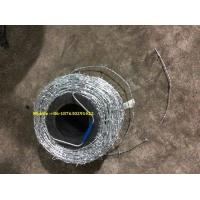 """Quality 16gaX16ga,Galvanized Barbed Wire, 500 meters /roll , 5"""" space ,22.5kg/roll for sale"""