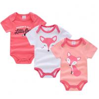Short Sleeve Newborn Baby Girl Clothes Gift Sets With Envelope Neck Cartoon Pictures