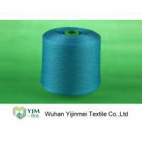 Quality Professional Plastic Cone Polyester Yarn Dyeing Dyed Color 100% Polyester Spun Yarn for sale