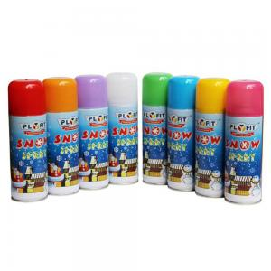 Quality Custom Dia52x130mm Dia45 X120mm Party Snow Spray Inside Outside Use for sale