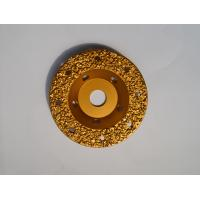 """Quality 5"""" Tungsten Carbide Abrasive Disc Vacuum Brazed / Concrete Grinding Wheel for sale"""