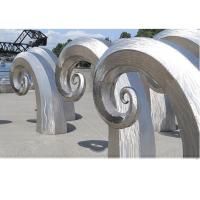 Buy Public Art Large Metal Wave Sculpture , Outdoor Abstract Steel Sculpture at wholesale prices