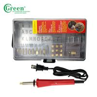 China Pyrography Electric Iron Wood Burning Kit / Tool 110-240V Green PS2000 on sale