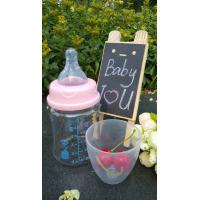 Quality 150ml With Teat Borosilicate Baby Glass Water Bottle For Milk And Water for sale