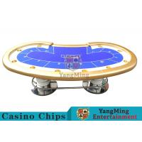 10 Players Casino Poker Table/ Custom Poker Tables With Disc Shape Legs