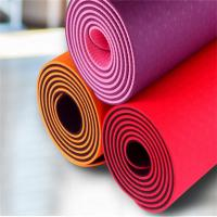 Quality Wholesale 1/4-Inch Double Layer Eco-friendly TPE Yoga Mat with Strap tpe yoga mat for sale
