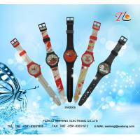 China Children's watch with colorful band  cute design and lovely cartoon dial on sale