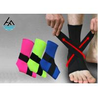 Quality Waterproof Black Elastic Ankle Support With Steel Plate 100% Nylon Hook for sale