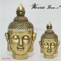 Quality China supplying Resin buddha head Golden Buddha statue for sale