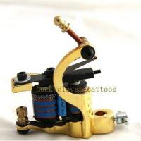 Quality Gold Handmade Iron Two-sided Tattoo Machine Gun Shader for sale