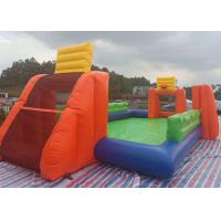 China Durable Inflated Fun Sports Games / Inflatable Soccer Field Water Pool With Basket Hoop on sale