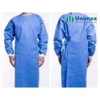 Quality Medical 65gsm Disposable Surgical Gowns Ultrasonic Three Threads Four Threads Sewing for sale